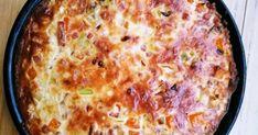 Mitä tulee, kun yhdistää suussasulavan vähähiilihydraattisen juustopiirakan pohjan ja Suomen suosituimman kinkkupiirakan  ainekset. No tiete... Fun Food, Good Food, Quiche, Macaroni And Cheese, Breakfast, Ethnic Recipes, Red Peppers, Morning Coffee, Funny Food