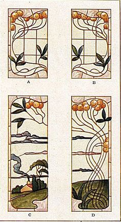 Stained glass window designs from the Morgan Woodwork Organization's 1921…