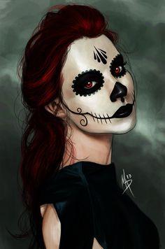 Catrina dia de muertos Halloween skull ☠m̾u̾e̾r̾t̾o̾s̾ g̾i̾r̾l̾s̾☠
