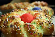 Italian Easter Bread (from her grandmother's recipe)