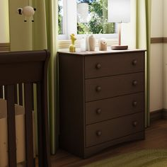 4 Drawer Child Bedroom Chest in Espresso Finish - Great for Nursery