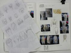 Fashion Sketchbook - fashion drawings, fabric manipulation experiments & draping development - fashion portfolio; fashion design process