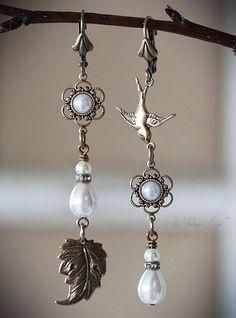 Meadowlark Asymmetrical Earrings