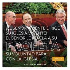 """""""El Senor viviente dirige Su iglesia viviente! El Senor le revela a Su Profeta Su voluntad para con la iglesia."""" :) #ldsconf #revelacion"""