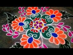 VaTamil Rangoli On this month, adorn your door front with this simple and p rangoli kolam(muggulu) . Rangoli Designs Simple Diwali, Easy Rangoli Designs Videos, Indian Rangoli Designs, Rangoli Designs Latest, Rangoli Designs Flower, Free Hand Rangoli Design, Rangoli Border Designs, Small Rangoli Design, Rangoli Patterns