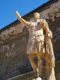 Photo by Andy Hay(cc)Statue of Senator M. Nonius Balbus at Herculaneum Ancient Pompeii, Pompeii And Herculaneum, Ancient Ruins, Ancient Artifacts, Ancient Egypt, Ancient History, Roman City, Ancient Architecture, Ancient Civilizations