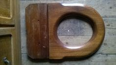 NOW SOLD Restored antique toilet seat with brass hinges
