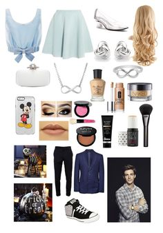 """Disney Couple Costume With Grant Gustin!! (Cinderella and Prince Charming)"" by skaterchiiick ❤ liked on Polyvore featuring Honor, Sonia by Sonia Rykiel, Touch Ups, Georgini, Oscar de la Renta, Jewel Exclusive, Clinique, Too Faced Cosmetics, Urban Decay and Gucci"