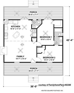 small cabin house plan by family home plans 92388