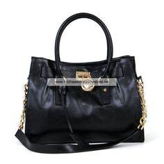 388aa980f52b Michael Kors Leather Hamilton Handbags Black Cheap Michael Kors