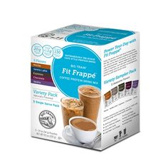Coffee Protein Drink Mix Variety sample 5 pack | Big Train Fit Frappe