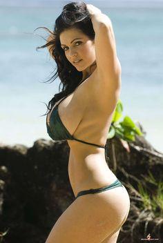 Denise Milani Green Hawaii