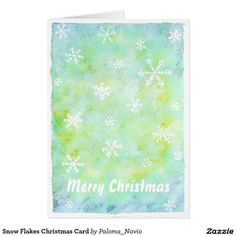 Snow Flakes Christmas Card - Paloma Navio