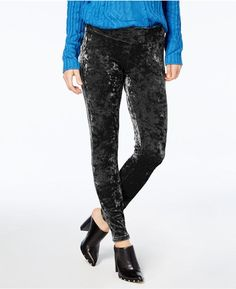 Hue Women's Plus Size Crushed Velvet Leggings