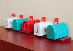 Family mailboxes to write notes and leave treats during the month!