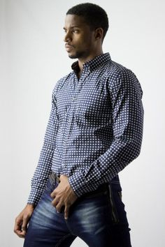 French Connection FCUK Diamond shirt for men, with a Geometric pattern, gallery diamonds all over. Monday through Sunday wear it with jeans or a bowtie. This shirt is a must have for all men. | www.differio.com