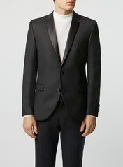 Selected Homme Black Tuxedo Suit