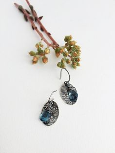 NEW London Blue Topaz Gemstone and Sterling by katepetersondesigns