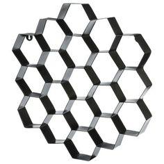 Nate Berkus™ Metal Honeycomb Wall Art - Black