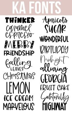 Handwritten fonts that are perfect to use on your cricut and silhouette projects! Scripts, serifs, doodles and more! freefonts Handwritten fonts that are perfect to use on your cricut and silhouette projects! Scripts, serifs, doodles and more! Hand Lettering Fonts, Calligraphy Fonts, Cursive Fonts, Kid Fonts, Lettering Ideas, Typography Fonts, Simple Calligraphy Alphabet, Letter Fonts, Cool Handwriting Fonts