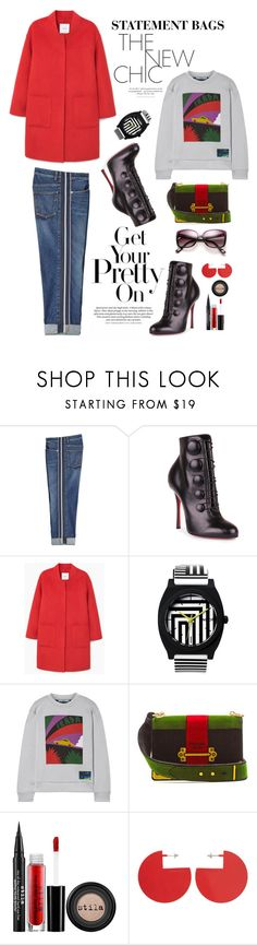 """""""Arm Candy: Statement Bags"""" by shortyluv718 on Polyvore featuring Alexander McQueen, Christian Louboutin, MANGO, Prada, Stila, Isabel Marant, contestentry and statementbags"""