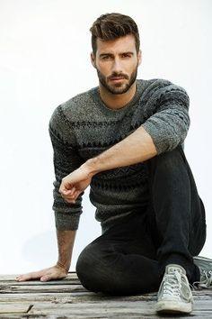 Justin Clynes beard model