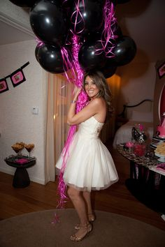 Lingerie-inspired bachelorette party Bachelorette Party Themes, Bachlorette Party, Bachelorette Weekend, Bridesmaid Duties, Lingerie Party, Bridal Shower Party, Maid Of Honor, Just In Case, Black Ballons