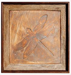 Iron Oxide Dragonfly Tile. Symmetry Tile Works. www.etsy.com/shop/symmetrytileworks