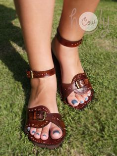 Handmade Sandals Leather Sandals Womens Sandals by HolyCowproducts