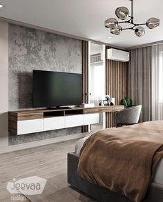 Home Interior Styles .Home Interior Styles Modern Master Bedroom, Bedroom Bed Design, Modern Bedroom Design, Home Interior Design, Living Room Tv Unit Designs, Apartment Interior, Luxurious Bedrooms, Living Room Decor, Home Decor