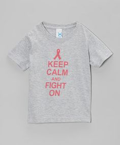 Take a look at this Gray 'Keep Calm' Tee - Infant, Toddler, Girls & Women by Peanuts & Monkeys on #zulily today!