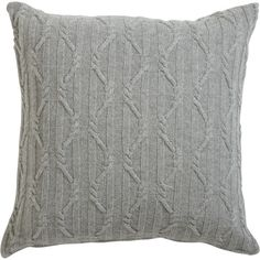 Ethan Allen Twisted Cable Euro Sham, Gray ($63) ❤ liked on Polyvore featuring home, bed & bath, bedding, bed accessories, pillows, gray pillow shams, grey shams, grey bedding, grey euro sham and gray bedding