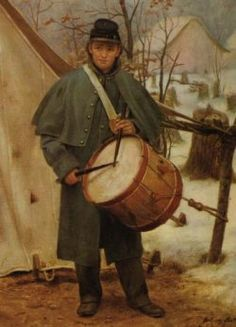 Confederate Drummer Boy . . .  My GGF, Shell Hopson, ran away when he learned of his father's death at the Battle of Fort Donelson. Shell lied about his age to be accepted as a drummer boy.