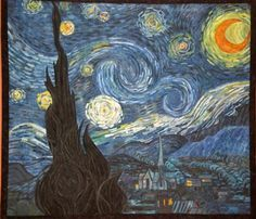 Van Goghs starry night - Quilting Daily