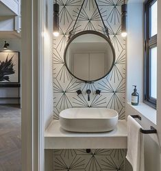 Is all about the details❣️ Dandelion - ivory/bottle green looking good. Bathroom design by 😌 Powder Room Decor, Powder Room Design, Bad Inspiration, Bathroom Inspiration, Garderobe Design, Concrete Basin, Modern Powder Rooms, Small Powder Rooms, Downstairs Toilet