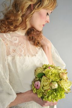 1970s wedding dress edwardian style
