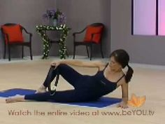 Pilates Ring 10 min Workout. Great except you need to do it 2x to target both sides.