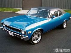 "1972 Chevrolet Nova. The first car I bought myself looked almost exactly like this. Bored out the 350 to a 383 ""stroker"" pushing about 400 horse. Thirteen speeding tickets in just over two years slowed me down a bit. Ended up selling it shortly after I got married because it just wasn't ""practical"". What was I thinking!?!"