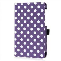 Sanheshun offer Sanhehsun Fashion Polka Dot Leather Case Cover Stand Compatible with 2013 ASUS Google Nexus 7 2nd 2Gen Color Purple. This awesome product currently limited units, you can buy it now for  , You save - New