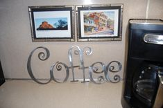 Coffee    Coffee can be hung on a wall or add to a grouping in your home for added décor. This Art Sign can be used indoor or outdoor. Hang this