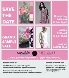 Grand sample sale Enelle, Articles -- Almere -- 24/03-25/03