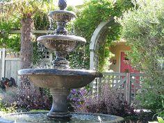 Vintage garden fountain.