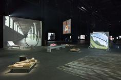 Joan Jonas Light Time Tales, 2014 Installation views Fondazione HangarBicocca, Milan Photo by Agostino Osio Courtesy Fondazione HangarBicocca, Milan .