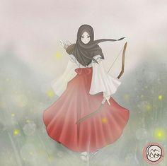 Berhijab takkan mengganggu aktivitas kita ! Cartoon Sketches, Cartoon Art, Cute Cartoon, Hijab Anime, Anime Manga, Anime Art Girl, Manga Girl, Tmblr Girl, Hijab Drawing