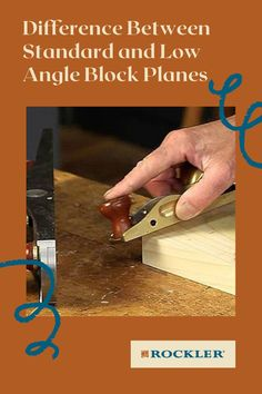 Is there a difference between a low-angle and standard block plane? Join the conversation here! #CreateWithConfidence #Standard #LowAngle #BlockPlane #Plane #LearnWithRockler Rockler Woodworking, Woodworking Hand Tools, Beginner Woodworking Projects, Power To The People, Low Angle, Wood Working For Beginners, Workshop Ideas, The Good Old Days, Different