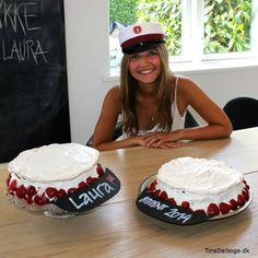 Laura Dalbøge som student - og opskrifter på lagkager der ligner studenterhuer
