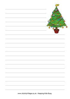 christmas writing paper tree