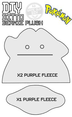 DIY Ditto Beanie Plush Templates - This series of videos will teach you how to make your own Props, Items and Memorabilia from your favourite games. This DIY project will teach you how to make this really squishy and HEAVY Ditto beanie from the Pokémon series. Its SO heavy you can use it as a door stop as well.