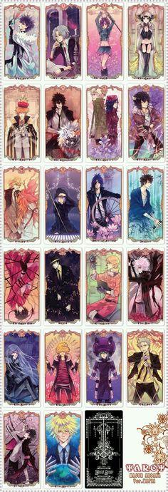 Nice anime artbook from Katekyo Hitman Reborn! uploaded by Kai Masters - Vongola Cards - Tarrot major arcana