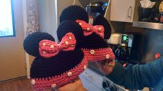 Minnie hats ( with buttons )!